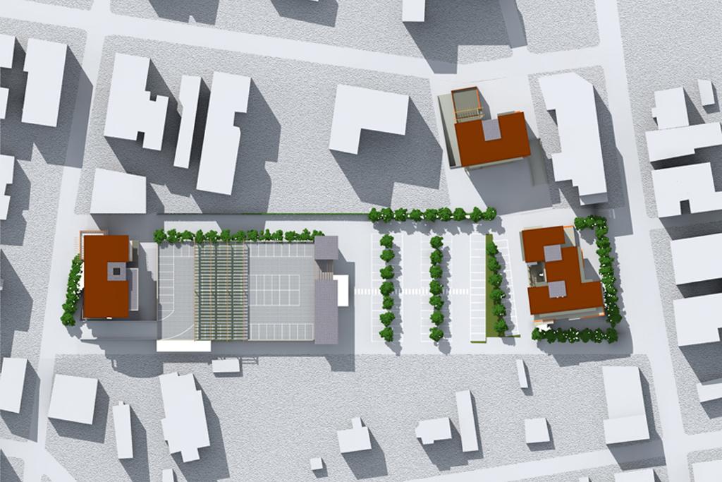 Riqualificazione di area industriale urbana in edifici for Piani di costruzione di edifici residenziali in metallo